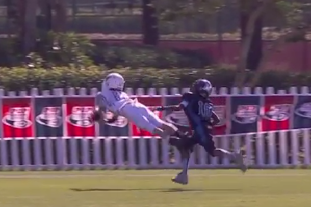 amazing diving catch pee wee football