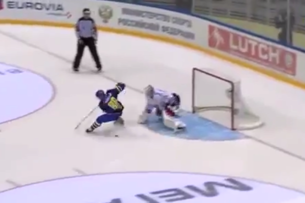 amazing hockey shootout goal sweden