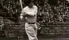 Babe Ruth Swings His Bat and His Manhood (GIF)