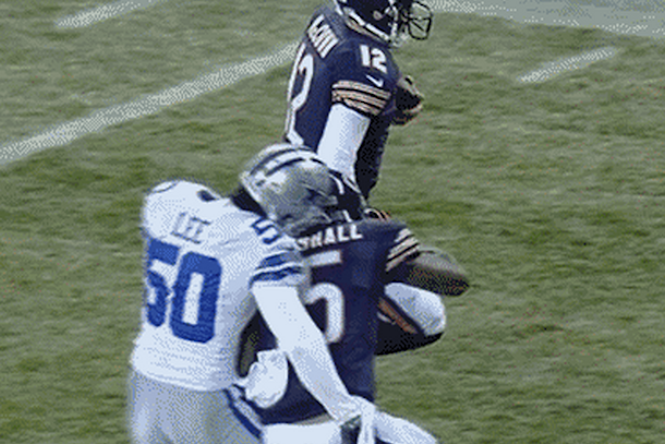 brandon marshall block on sean lee
