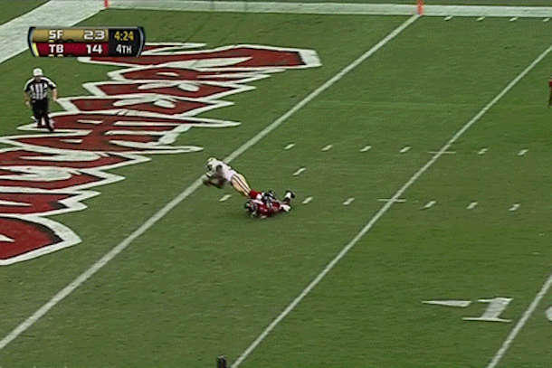 buccaneers kickoff return fail vs 49ers