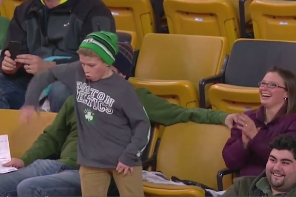 celtics kid dancing slick moves