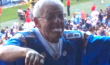 Crazy Grandpa Chargers Fan Dancing Will Either Make You Laugh or Creep You Out (Video)