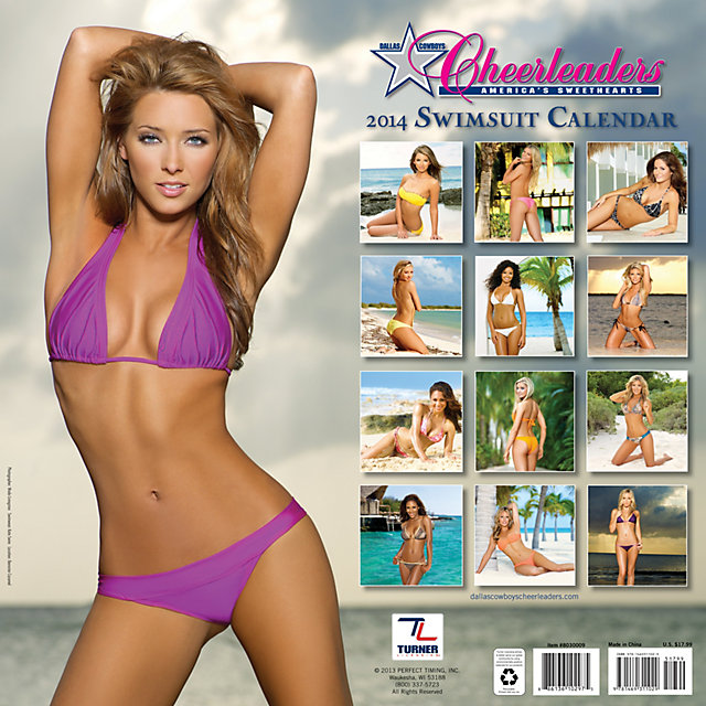 dallas cowboys cheerleaders swimsuit calendar - nfl cheerleaders calendars 2014