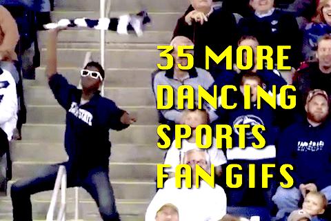 dancing sports fan gifs