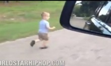 Father Trains 5-Year-Old Son By Making Him Run Alongside His Car (Video)