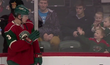 Young Child Smiles With Excitment After Minnesota Wild Player Waves To Him (Video)