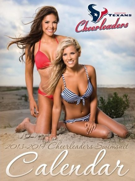 houston texans swimsuit calendar - nfl cheerleaders calendars 2014