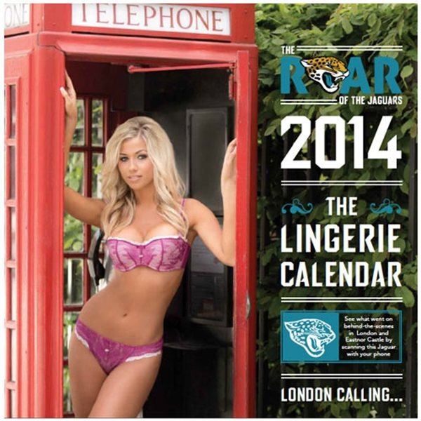 jacksonville jaguars roar cheerleaders lingerie calendar - nfl cheerleaders calendars 2014