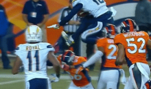 Chargers Receiver Keenan Allen Hurdled a Broncos Defender to Score a Touchdown (GIFs)