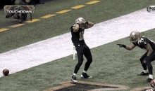 Saints' Lance Moore Does a Hingle McCringleberry Touchdown Celebration (GIF)