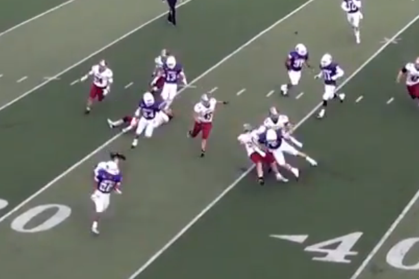 linfield college three epic blocks on punt return