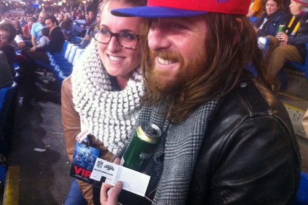 matt mays at bills game rob ford's seat