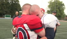This Emotional Reunion Between a Military Dad and His Son at a High School Football Game Will Make Your Week (Video)