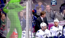 Minnesota Wild Mascot Mocks the Canucks and Their 'Green Men' by Wearing Green Spandex Bodysuit (Video)