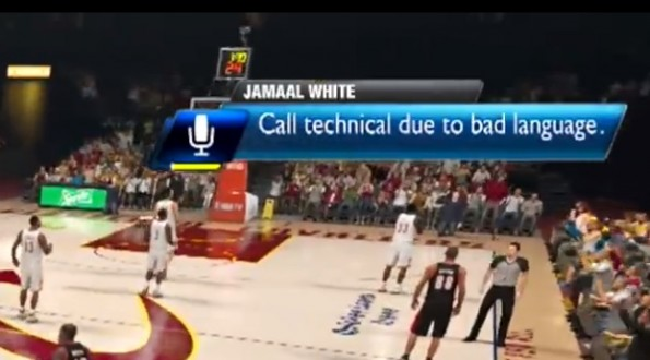 nba 2k14 technical foul swearing