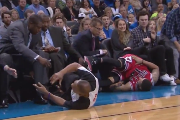 nba ref takes spill