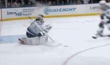 Chris Kreider's Whiff Goes Through Niklas Backstrom's Legs For the Most Embarrassing Goal of the NHL Season (GIF)