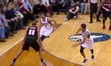 Ricky Rubio Nutmegs Nicolas Batum (Video + GIF)