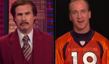 Ron Burgundy Interviews Peyton Manning, Points Out His Shocking Lack of Mustache (Video)