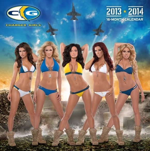 san diego charger girls caledar - nfl cheerleaders calendars 2014