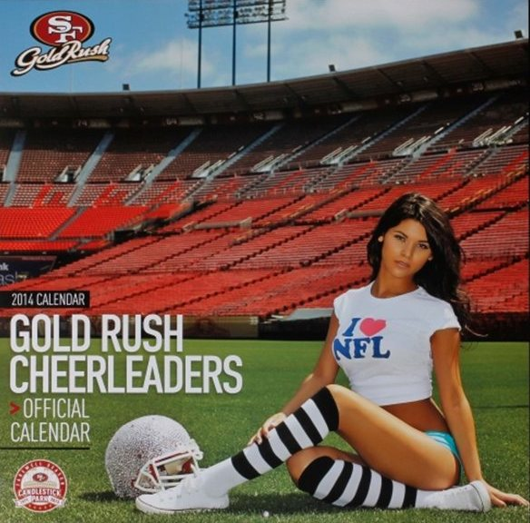 san francisco 49ers gold rush cheerleaders wall calendar - nfl cheerleaders calendars 2014