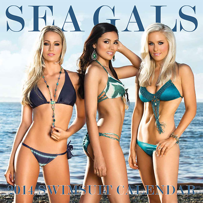 seattle sea gals swimsuit calendar - nhl cheerleaders calendars 2014