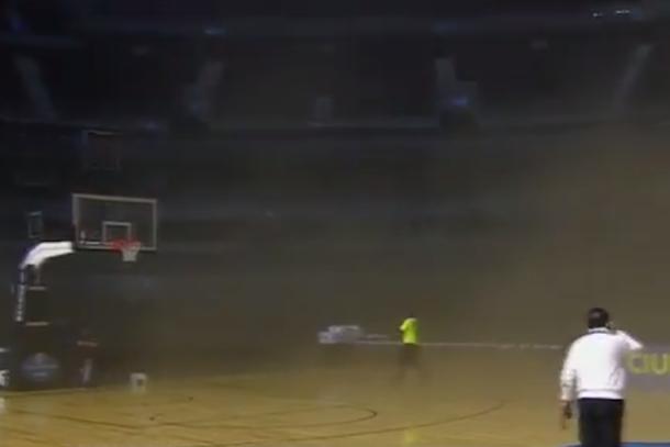 smoke delay nba mexico city game spurs timberwolves