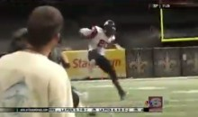 High School RB Demonstrates Crazy Athleticism by Hurdling One Defender and Juking Another (Video)