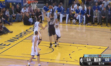Watch Tiago Splitter Throw Up an Air Ball from Three Feet Away (GIF)