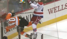 Caps Rookie Tom Wilson Will Likely be Suspended for This Brutal Hit on the Flyers' Brayden Schenn (Video)