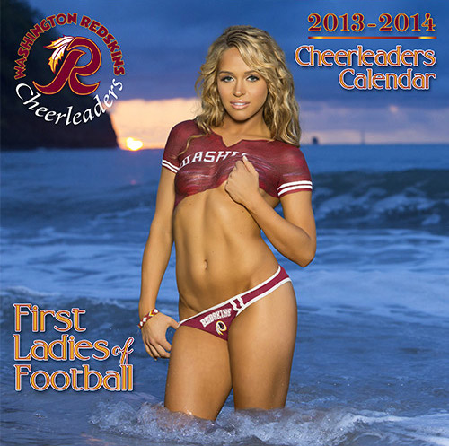 washington redskins cheerleaders swimsuit calendar - nfl cheerleaders calendars 2014