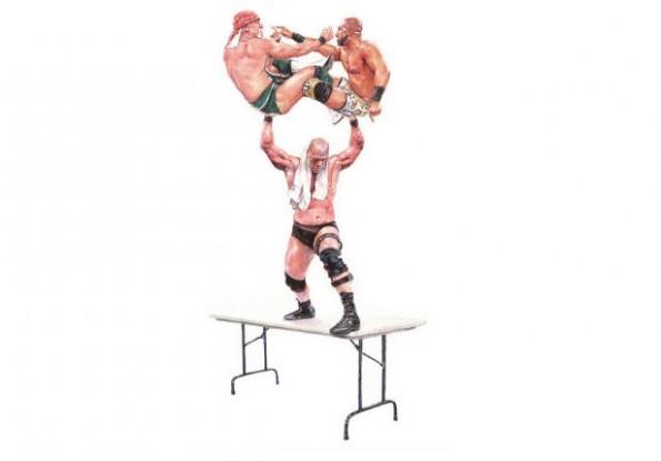 wrestler waterpaintings