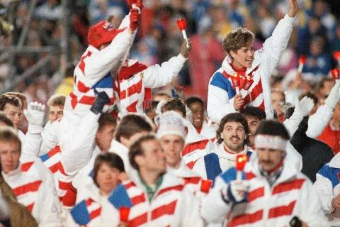 18 usa closing ceremony outfit 1988 - crazy olympic outfits