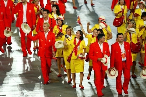 23 spain ketcup and mustard opening ceremonies 2008 - crazy olympic outfits