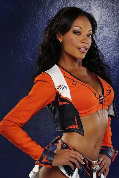 4 Eboni - Denver Broncos Cheerleaders - Hottest Super Bowl XLVIII Cheerleaders
