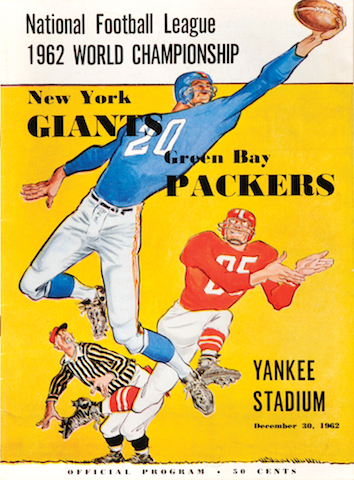 4 nfl championship program 1962 giants green bay packers - best nfl playoff rivalries