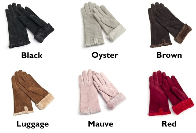 6 Isotoner_Ladies_Suede_Gloves colors - super bowl xlviii prop bets