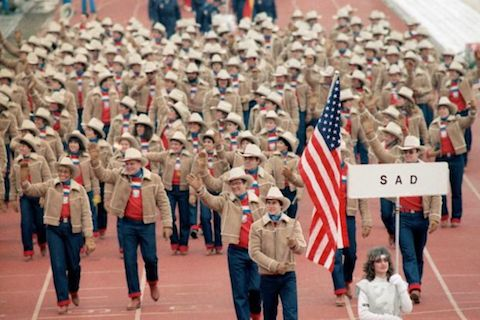 9 usa opening ceremony outfit 1984 - crazy olympic outfits