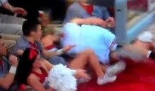 Ohio State Point Guard Aaron Craft Runs Over a Cheerleader (Video)