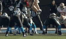 Cam Newton Flops After Ahmad Brooks Soars Offside (GIFs)