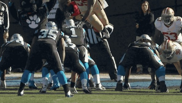 Ahmad Brooks Dives, Cam Newton Flops