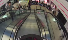 GoPro Cam Captures Bike Race Through a Prague Mall (Video)