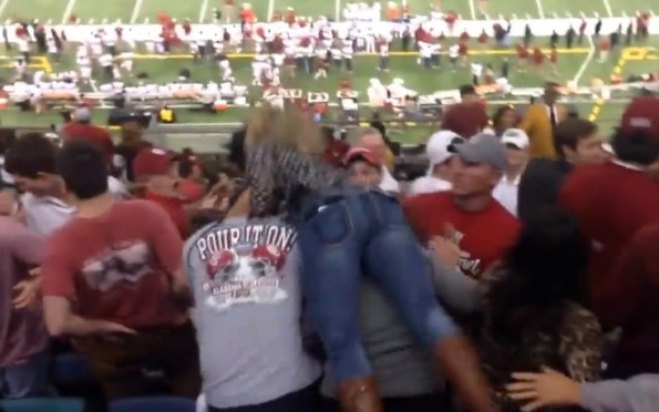Bama Sooners fan fight