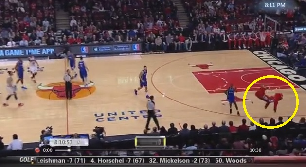 Chicago Bulls Mascot Benny The Bull Flips Off The Court During