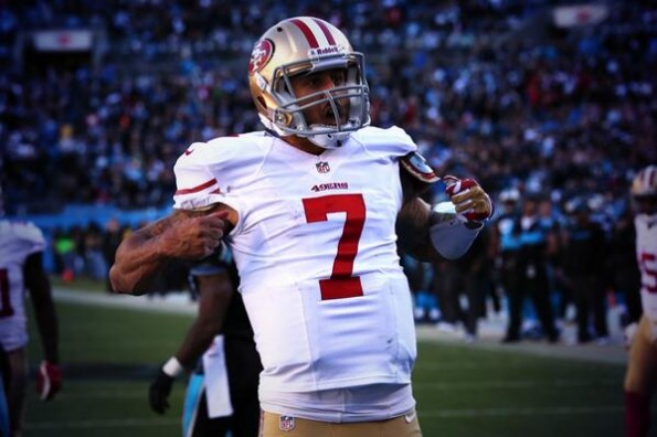 Colin Kaepernick Does Decent Cam Newton Touchdown Celebration Impression