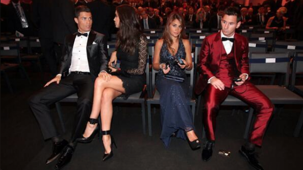 Cristiano Ronaldo Lionel Messi and girlfriends