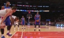 J.R. Smith Tries to Untie Another Opposing Player's Shoe (Video)