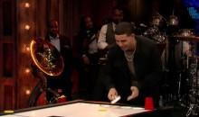 Drake Plays Beer Hockey With Jimmy Fallon (Video)