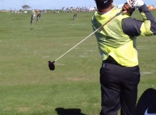 Ken Griffey Jr Shows Off His Smooth Golf Swing Video